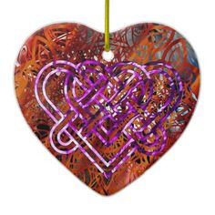 Celtic Knot Heart Ornament By Nathan Simonson - valentines day gifts gift idea diy customize special couple love