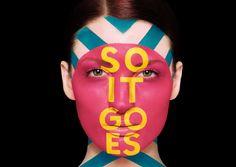 In Ads, Bold Typographic Slogans Adorn Models' Faces - DesignTAXI.com
