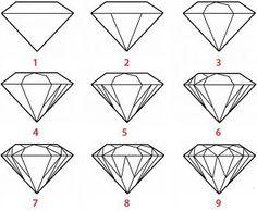 Tuto dessin diamant