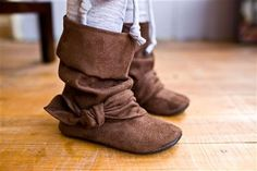 brown ruched boots | Baby and Toddler Slouch Boots