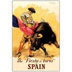 Fiesta de Toros Spain Canvas Print