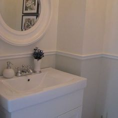Dado rail - Traditional Powder Room Design, Pictures, Remodel, Decor and Ideas - page 18