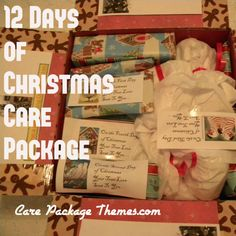 12 twelve days of christmas care package ideas...may send to michael