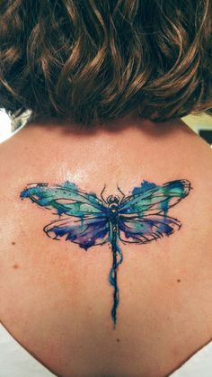 My dragonfly tattoo. …