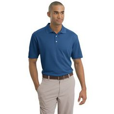 Nike Golf - Dri-FIT Classic Polo. The best value polo that nike offers in our opinion. Great 3 button polo with a nice 4.7 oz poly material that really takes embroidery well. We hate thin polos for embroidery so you wont see us recommend them.