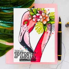 Colorado Craft Company   Cardmaking & Coloring in Graphic Style. Video + Giveaways     Yana Smakula Pen Collection, Penny Black Stamps, Copic Sketch Markers, Pretty Pink Posh, Shops, Whimsy Stamps, Bird Cards, Heartfelt Creations, Pretty Cards