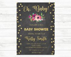 Custom Baby Shower Invitation Baby shower Invite by BaloeDesigns