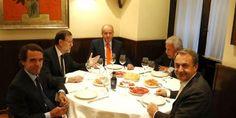 Rajoy, de cena con el rey Juan Carlos y los expresidentes del Gobierno