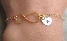 mothers day Gold Bracelet Gold Infinity Bracelet by natashaaloha, $39.00