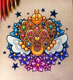 Usagi's Eternal Moon Brooch with a bit of filigree & Forget-Me-Nots __________________________________________ Prismacolor pencils ballpoint pen white acrylic & white gel pen on Strathm. Gel Pen Art, Gel Pens, Arte Sailor Moon, Sailor Venus, Sailor Scouts, Disney Marvel, Tenacious D, Cartoon Tattoos, White Gel Pen