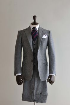 Grey Tweed 3-piece Suit (own)