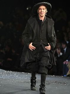 John Galliano 'Old Master' at the Christian Dior spring/summer 2008 haute couture show at Paris Fashion Week.
