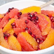 French Revolution: Winter Citrus and Pomegranate Fruit Salad