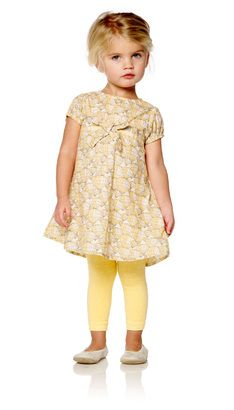 Jima Little DRESS, Yellow - POMPdeLUX