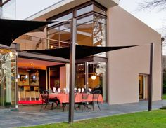 Coolaroo Shade Sails are not just practical - they become an incredibly beautiful part of a house's general look. It expands your living space by giving you extra cover on patios and outdoor areas.