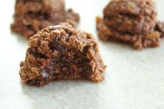 Double Chocolate Macaroons (*use gluten free oats and dairy free chocolate chips)