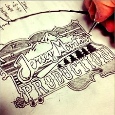 Jersey Mountain Badge by Brandon Paul, via Behance Hand Lettering and #Typography