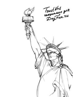 how to draw statue of liberty step by step 3