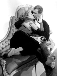 Best Hollywood Kisses. James Stewart and Kim Novak in Bell, book and candle, 1958.
