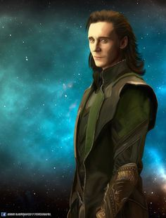 Tom Hiddleston - Loki , Erich Rivera on ArtStation at https://www.artstation.com/artwork/qnQa2  #loki #tomhiddleston #marvel #illustration #fanart
