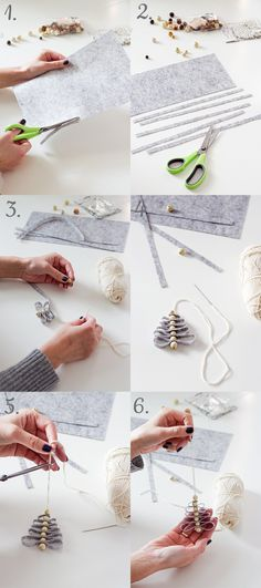 Do you see how easy it is? And what a beautiful! Diy Felt Christmas Tree, Toddler Christmas, Christmas Wood, Christmas Projects, Christmas Time, Merry Christmas, Beautiful Christmas Decorations, Xmas Ornaments, Diy And Crafts