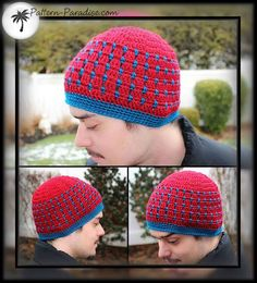 FREE hat pattern.  Great for all ages and male/female too! #crochet #freecrochet #patternparadise #pattern-paradise