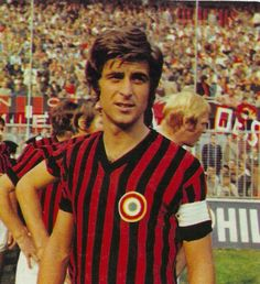 Gianni Rivera, Italian International with 63 caps and scored 15 goals. His club football was with A C Milan making 527 appearances scoring 128 goals