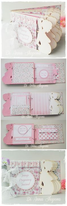 Unique Shabby Chic Personalized Pregnancy Diary Journal Scrapbook  #pregnancy…