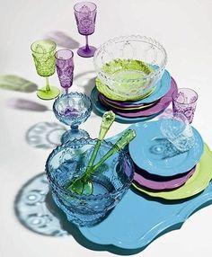 Vajilla colores fluor