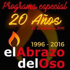 Este domingo celebramos los 20 años de #ElAbrazodelOso con casi todo nuestro equipo preparado para desenvolver sus regalos. Seguro que los disfrutamos todas y todos. ¿Nos acompañas? Si te apetece participar, aún estás a tiempo de enviarnos un mensaje de voz a correo@elabrazodeloso.es ¡Nos vamos de fiesta! #20Aniversario