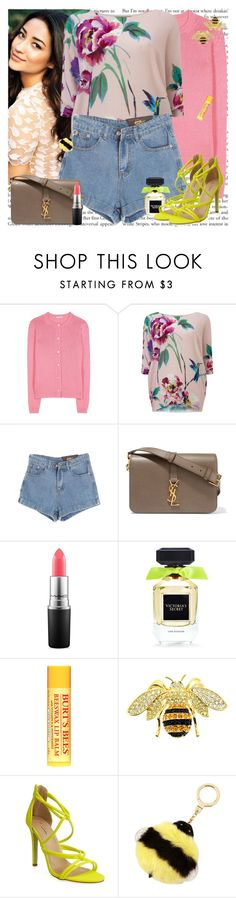 """Pretty Little Liar"" by msfashionchick ❤ liked on Polyvore featuring Miu Miu, Phase Eight, Chicnova Fashion, Yves Saint Laurent, MAC Cosmetics, Victoria's Secret, Burt's Bees and Kate Spade"