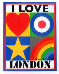 """#SirPeterBlake #ILoveLondon  """"I LOVE LONDON"""" and """"I LOVE RECYCLING"""" is a public declaration by the artist, to celebrate and support a new 'culture of sustainability' and herald a 'zero waste' future, a tin plate for you to hang on your wall and treasure for life!"""
