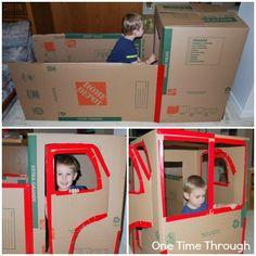 Building a Cardboard Firetruck
