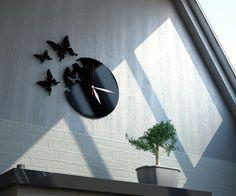 Zegar Motyle - akryl