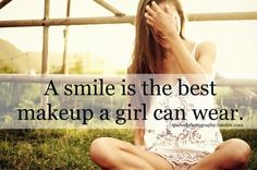 The beauty of Makeup can't beat the beauty of a smile ♥