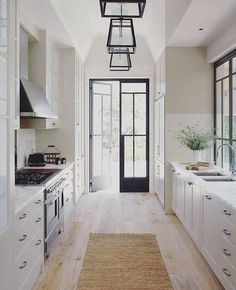 Classic galley style kitchen
