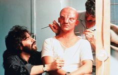 """""""Total Recall, 1990 (Paul Verhoeven, Special effects makeup session with Rob Bottin)"""" Backstage, Paul Verhoeven, Total Recall, Special Effects Makeup, Sfx Makeup, The Thing Is, Scene Photo, Film Director, Behind The Scenes"""