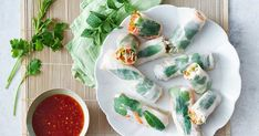 Our coconut poached chicken rice paper rolls are perfect for a healthy lunch or light dinner.