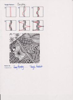☆ Zentangle Pattern ~ Sarphy ~ by Judy Murphy