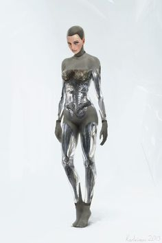 - (Ava by Karl Simon (Ex Machina concept art) I love the unique structure and beauty of the android/robot in this film! Female Cyborg, Cyborg Girl, Android Technology, Robot Technology, Technology Gadgets, Humanoid Robot, Steampunk, Cyberpunk Character, Cyberpunk Girl