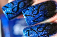 UK Nail Runner Picture Polish Freya's Cats with black gradient and stamping