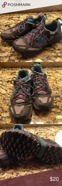 Adidas trail shoes Used condition but plenty of miles left. Adidas Shoes Athletic Shoes