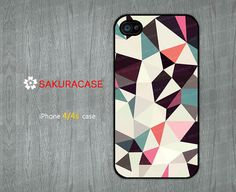 Retro Tris Light iphone 4 case Geometric iPhone 4 case Cover Skin Case for iPhone 4s Hard/Rubber case -Choose Your Favourite Color by sakuracase, $6.99