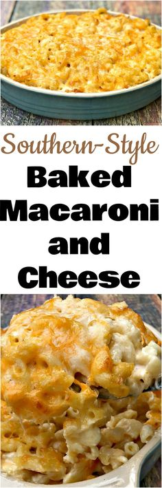 Southern-Style Baked Macaroni and Cheese is a homemade, soul food recipe with 5 creamy types of cheese. Perfect for Thanksgiving, Christmas, and holidays. This recipe makes the perfect side dish for the holidays. #macaroniandcheese