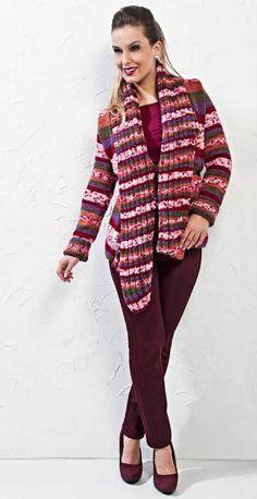 Casaco Multicolor - Fio Cisne Jackard New