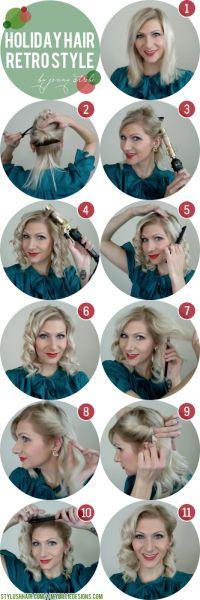 7 magnifiques tutoriels pour une coiffure rétro – Astuces de filles