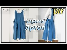 Old Fashion Dresses, Jumper Dress, Diy Fashion, Sewing Patterns, Layers, Summer Dresses, Aprons, Pretty, How To Wear