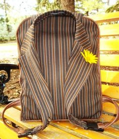JackPack Upcycled Suit to Backpack - Free Pattern & Tutorial by Linda Bodo | PatternPile.com