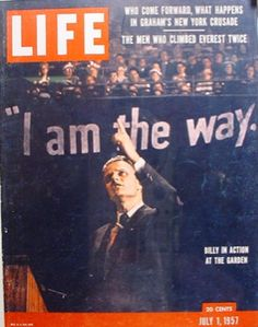 Billy Graham on the cover of Life, 1957