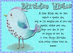 Free online A Little Birdy Told Me ecards on Birthday Happy Birthday Penguin, Birthday Hug, Cute Happy Birthday, Birthday Wishes Funny, Birthday Songs, Birthday Sparklers, Beautiful Birthday Wishes, Joy And Happiness, Time To Celebrate